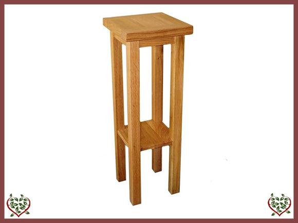 MATLOCK OAK TALL PLANT STAND - paul-martyn-furniture