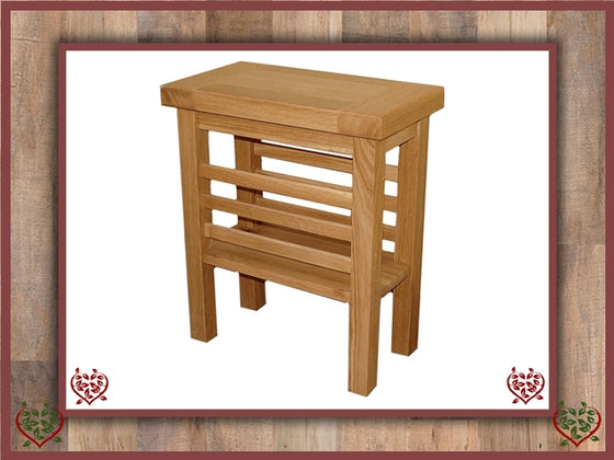 MATLOCK OAK MAGAZINE RACK SIDE TABLE | Paul Martyn Furniture UK