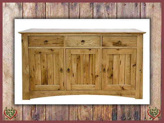 ARTISAN OAK 3 DOOR SIDEBOARD | Paul Martyn Furniture UK