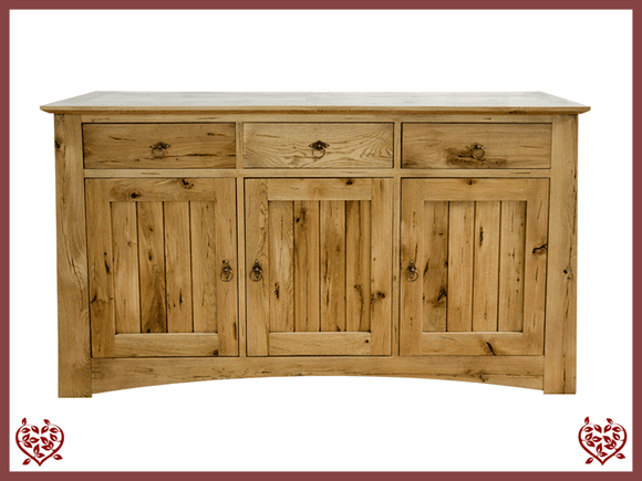 ARTISAN OAK  3 DOOR SIDEBOARD