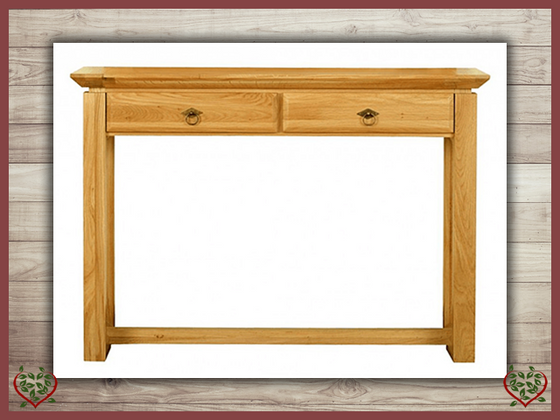 TEMPLE OAK HALL TABLE, 2 DRAWERS Paul Martyn Furniture UK