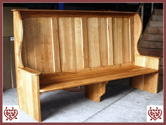 LARGE OAK SETTLE ~ MADE TO MEASURE - paul-martyn-furniture