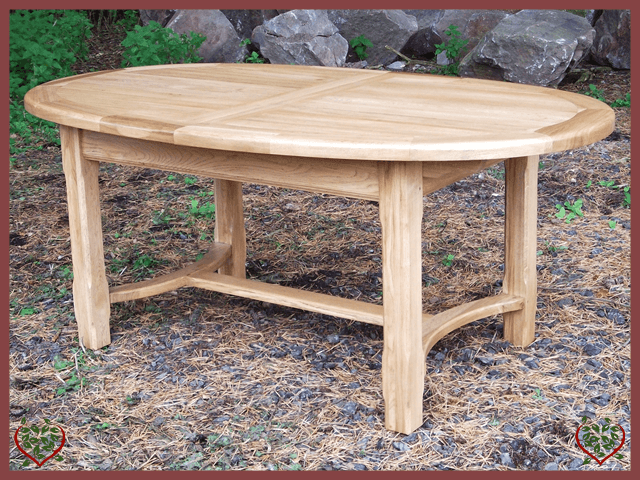COUNTRY OAK OVAL EXTENDING TABLE | Paul Martyn Furniture UK