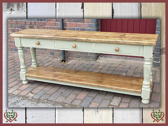 SHABBY CHIC RECLAIMED PINE SIDE SERVER | Paul Martyn Furniture UK