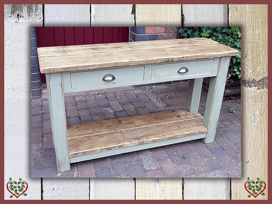 SHABBY CHIC RECLAIMED PINE SIDE TABLE Paul Martyn Furniture UK