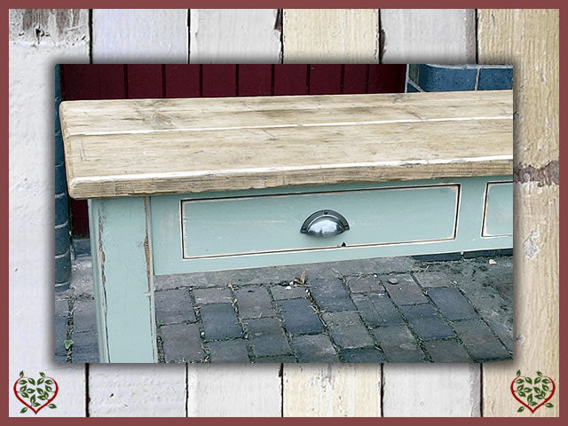 SHABBY CHIC RECLAIMED PINE SIDE TABLE | Paul Martyn Furniture UK
