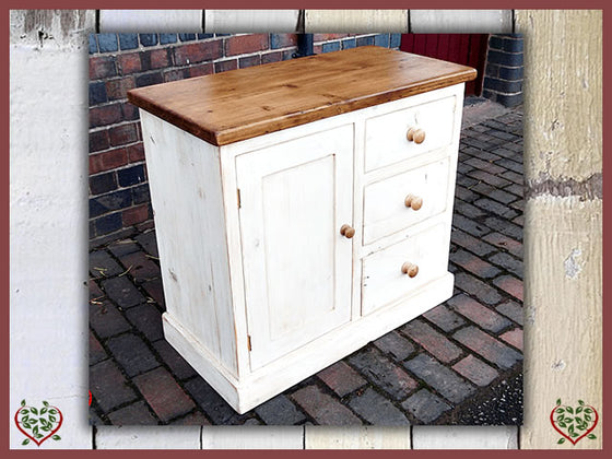 SHABBY CHIC RECLAIMED PINE CUPBOARD | Paul Martyn Furniture UK