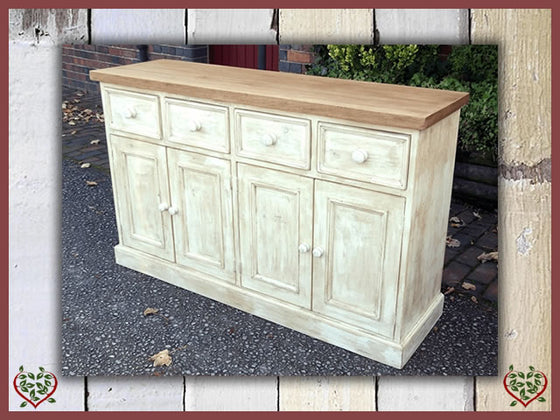 SHABBY CHIC RECLAIMED PINE DRESSER BASE | Paul Martyn Furniture UK