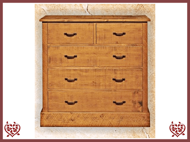 RUSTIQUE 2 OVER 3 CHEST OF DRAWERS