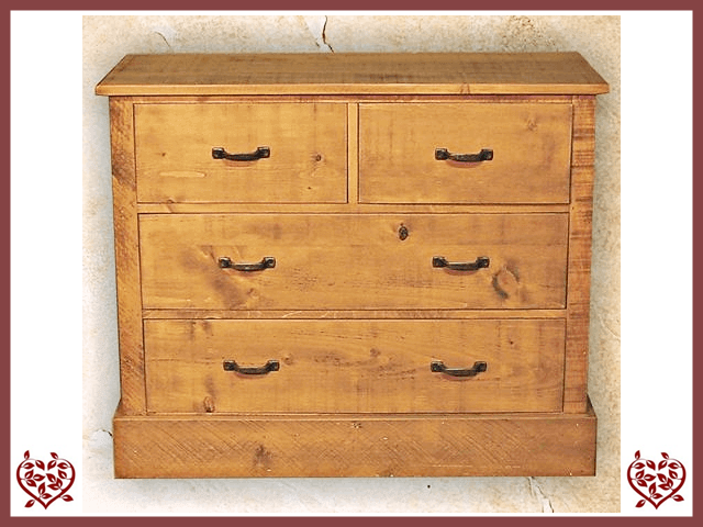 RUSTIQUE 2 OVER 2 CHEST OF DRAWERS | Paul Martyn Furniture UK