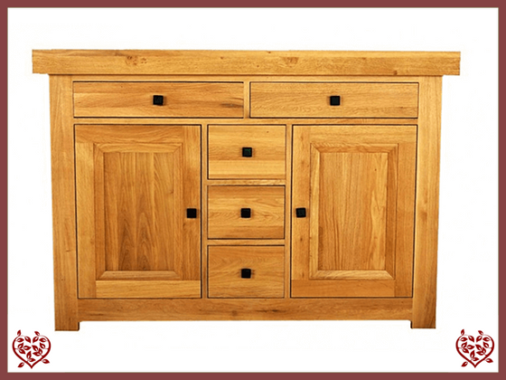 AUBUSSON OAK 2 DOOR SIDEBOARD DRESSER BASE - paul-martyn-furniture