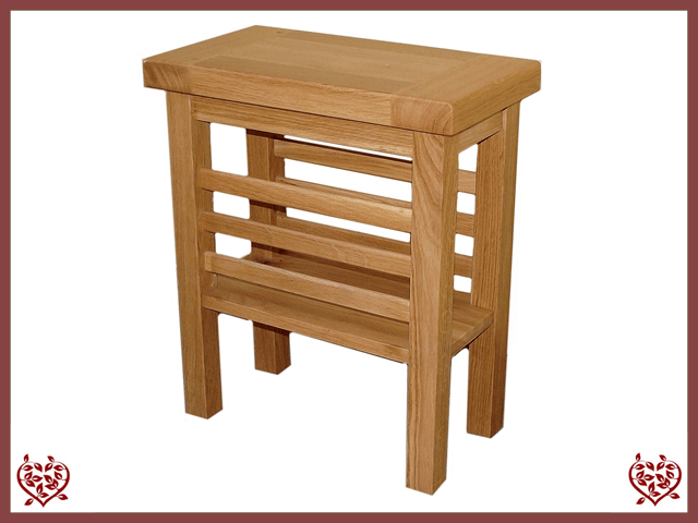 MATLOCK OAK MAGAZINE RACK SIDE TABLE