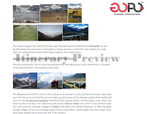 Itinerary Preview- 12 Day Rafting Expedition across Zanskar River by Ranjan Pal
