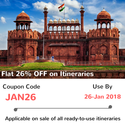 26% Off on all Itineraries