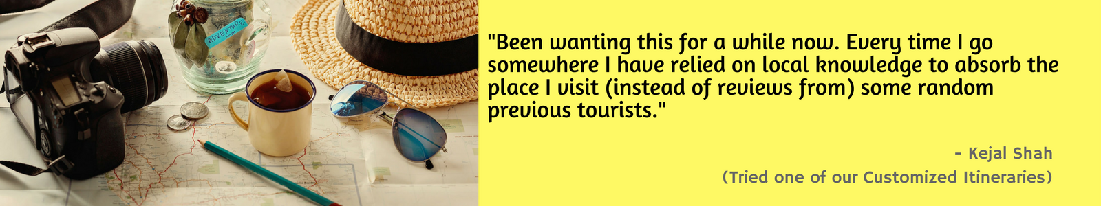 Testimonial from a user for a Customized Itinerary on GoPo