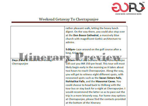 Weekend Getaway Trip Plan to Cherrapunjee by travel blogger Arushi Dutt for GoPo