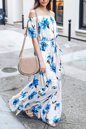 Dress Pavacat Floral Off-Shoulder Maxi Dress