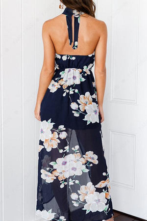 Dress Pavacat Open Back Sleeveless Floral Thigh Split Dress