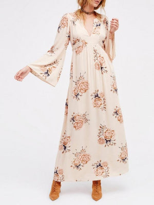 Dress Pavacat Pleated Belt Printing Long Sleeve Dress
