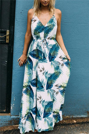 Dress Pavacat V Neck Floral Print Chiffon Green Maxi Dress