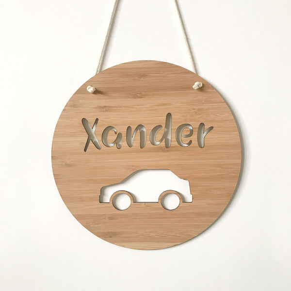 Car name plaque/wall hanging - 19cm or 29cm