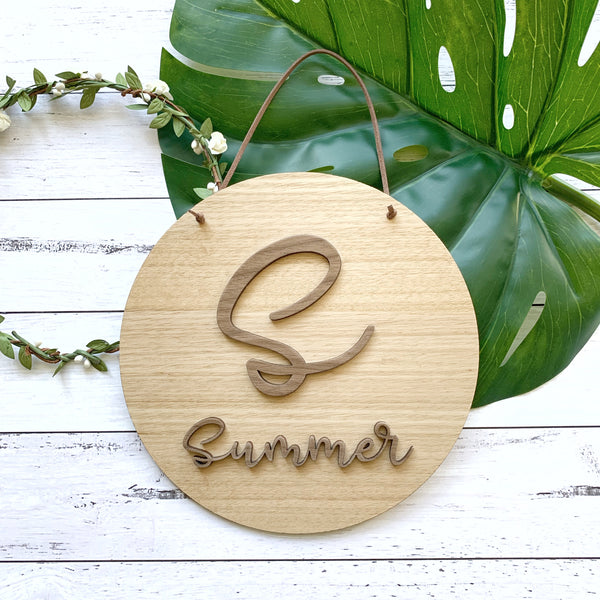 3D name plaque with initial