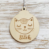 Kitty cat Christmas ornament