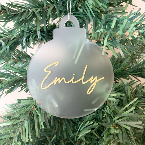 Christmas ornament / clear acrylic ornament