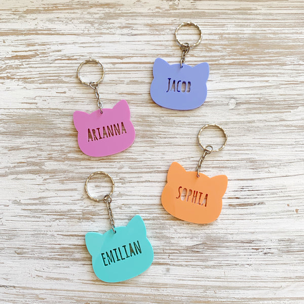 Personalised kitty keychain