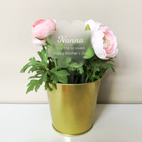 Personalised acrylic plant topper / planter stick
