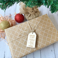 Christmas wooden gift tags