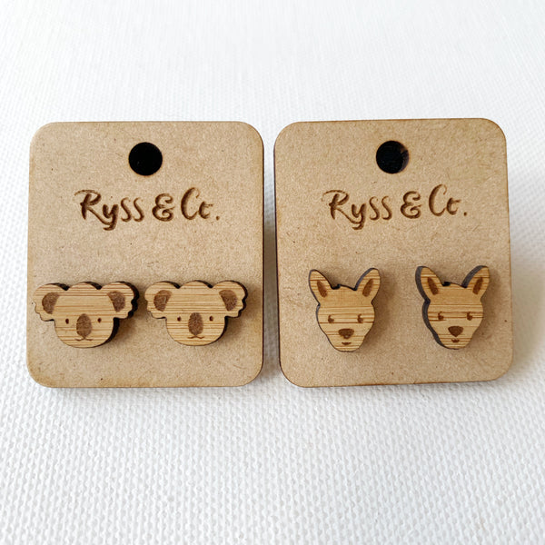 Australiana stud earrings