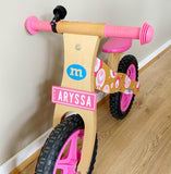 Personalised name plate for toy car/bike or room decor