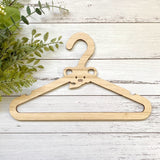 Elephant kids wooden hanger