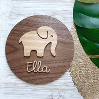 Personalised 3D elephant plaque