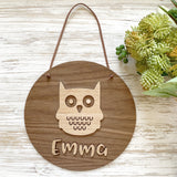 Owl 3D name plaque