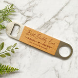 Personalised wooden bottle opener / Father's Day gift idea
