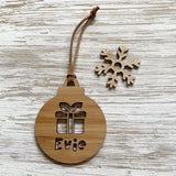 Personalised Christmas gift bauble ornament