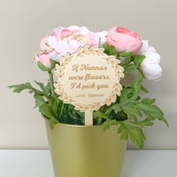 Personalised wooden planter stick (Mother's Day gift)