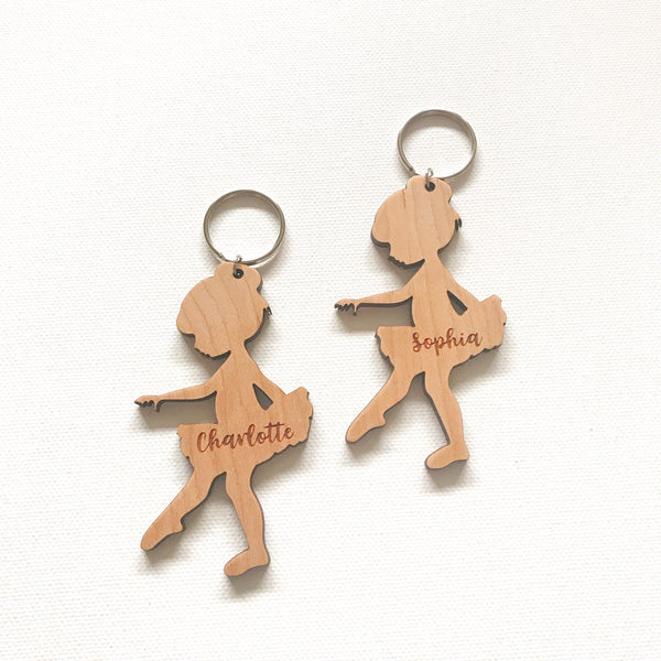 Ballerina zipper charm/key ring