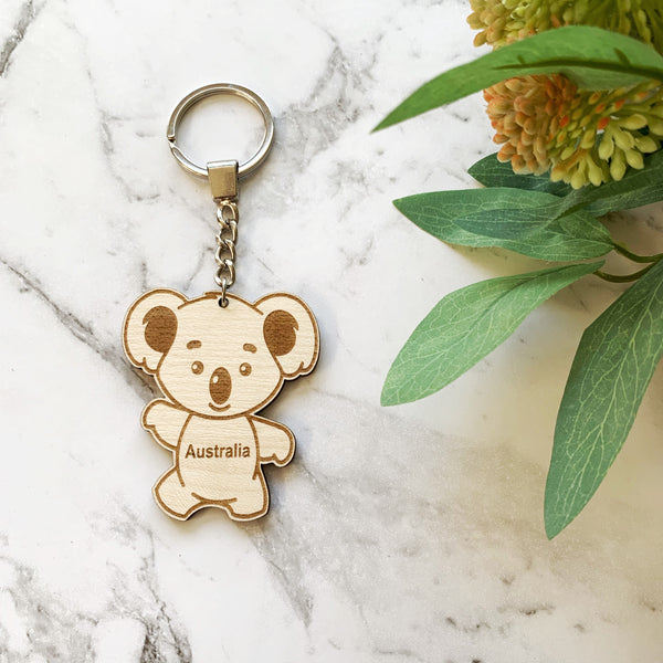 Koala keyring / keychain - Personalisation available