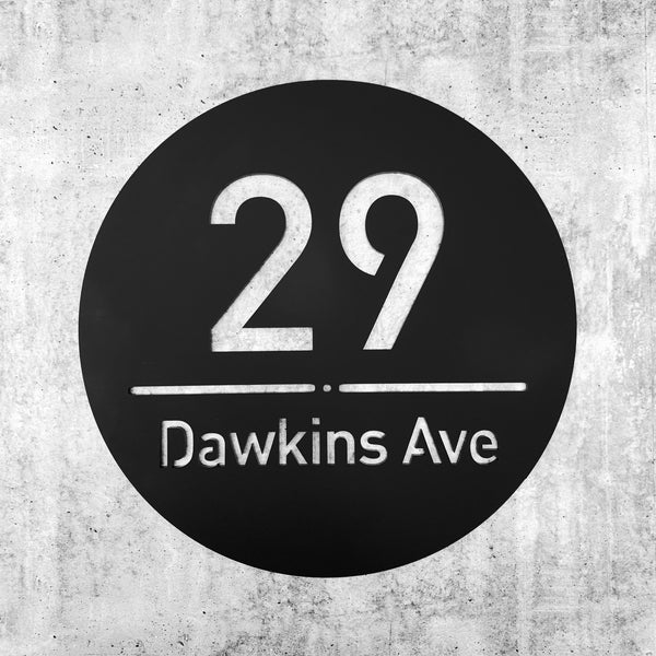 Address / Street number sign