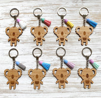 Koala keyring with tassel