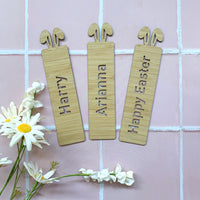 Bunny ear bamboo bookmarks