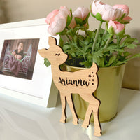 Personalised deer plaque / wall hanging