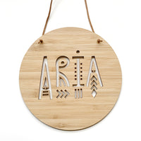 Personalised tribal wall plaque / decor
