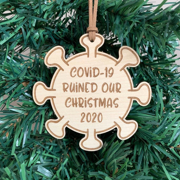 Covid-19, 2020 Christmas wooden ornament m