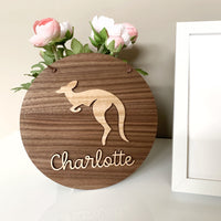 Personalised 3D kangaroo plaque