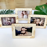 Personalised wooden photo frame - Simple monstera design