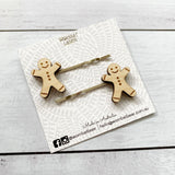 Gingerbread man hair pins